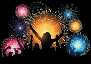 Bunte stilvolle Feuerwerk Collection Videos