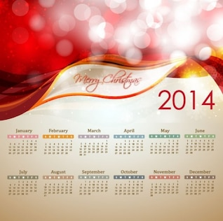 2014 neue Jahreskalender Vektor