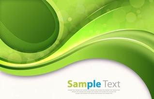 Zusammenfassung grünen Kurven Vektor-Bild