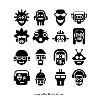 Abstrakt Kopf Icons