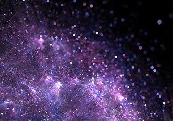 abstrakt lila Partikel Staub funkeln Hintergrund