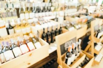 Abstrakte Unschärfe und defokussierte Weinhandlung