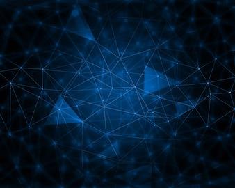 Abstrakter Techno-Hintergrund mit Verbindungslinien