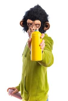 Affe Mann mit Spray