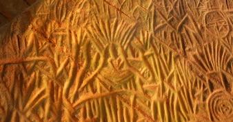 Alte Höhle Zeichnung in Kerala