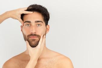 Angenehme Kopfmassage