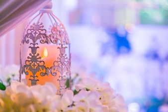 Antike Gold Blume Licht Kerze
