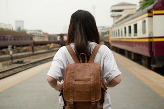 Asiatische Frau Tourist