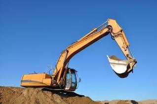 Bagger Ausgrabung