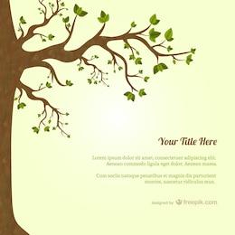 Baum mit Blättern Vorlage