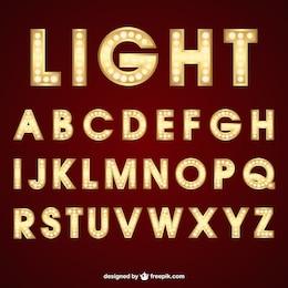 Beleuchtung Typografie