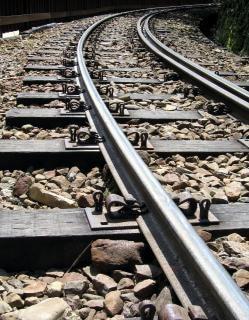 Berg Eisenbahnschienen