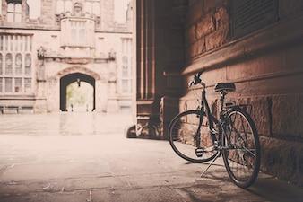 Fahrrad auf Veranda