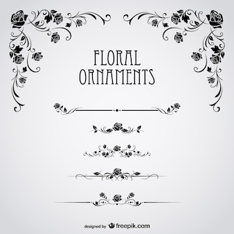 Schwarze Rosen floral vector