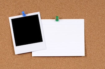 Blanker Fotodruck mit Bürokartenkarte
