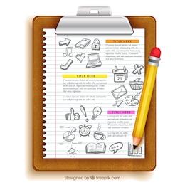 Blatt Papier Bildung Vorlage