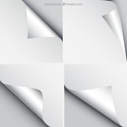 Blatt Papier mit gelockt Ecken