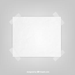 Blatt Papier mit Klebeband