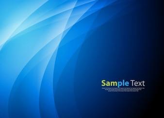 blaue abstrakte Welle Hintergrund Vektorgrafik