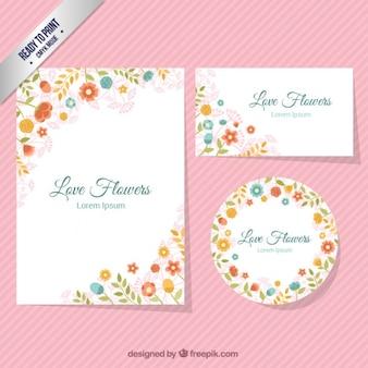 Blumenbriefpapier