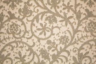 Blumenmuster. Braunes Muster mit floralen Ornament