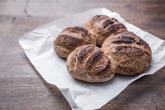 Bord hausgemachte Vintage Leben Brot
