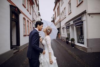 Braut zu Fuß