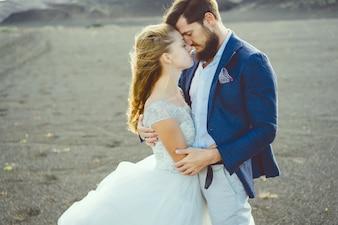 Bräutigam Anzug Liebe Paar Kleid
