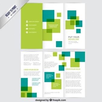 Broschüre grüne Quadrate