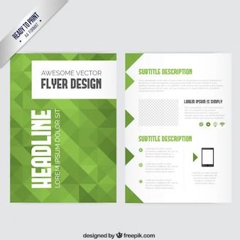 Broschüre Vorlage mit grünen geometrischen
