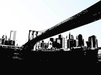 Brücke von unten gesehen