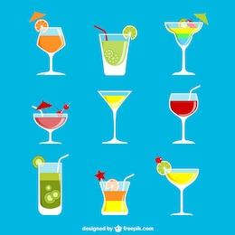 Bunte Cocktails