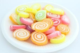 Bunte Gelee-Süßigkeit