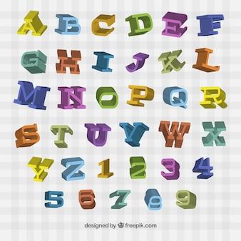 Bunte Retro-Typografie in 3D-Stil