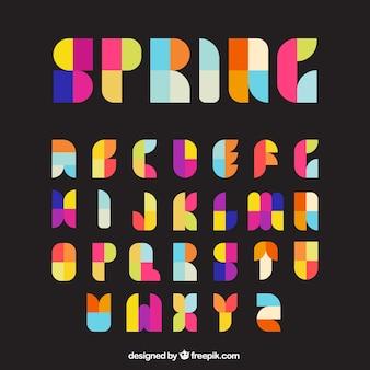 Bunte Typografie