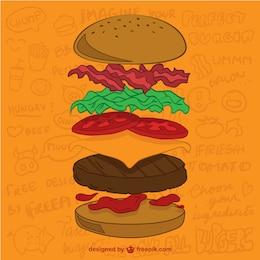 Burger Zutaten Vektor