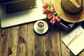 Business-Holz Raum Pause Tastatur
