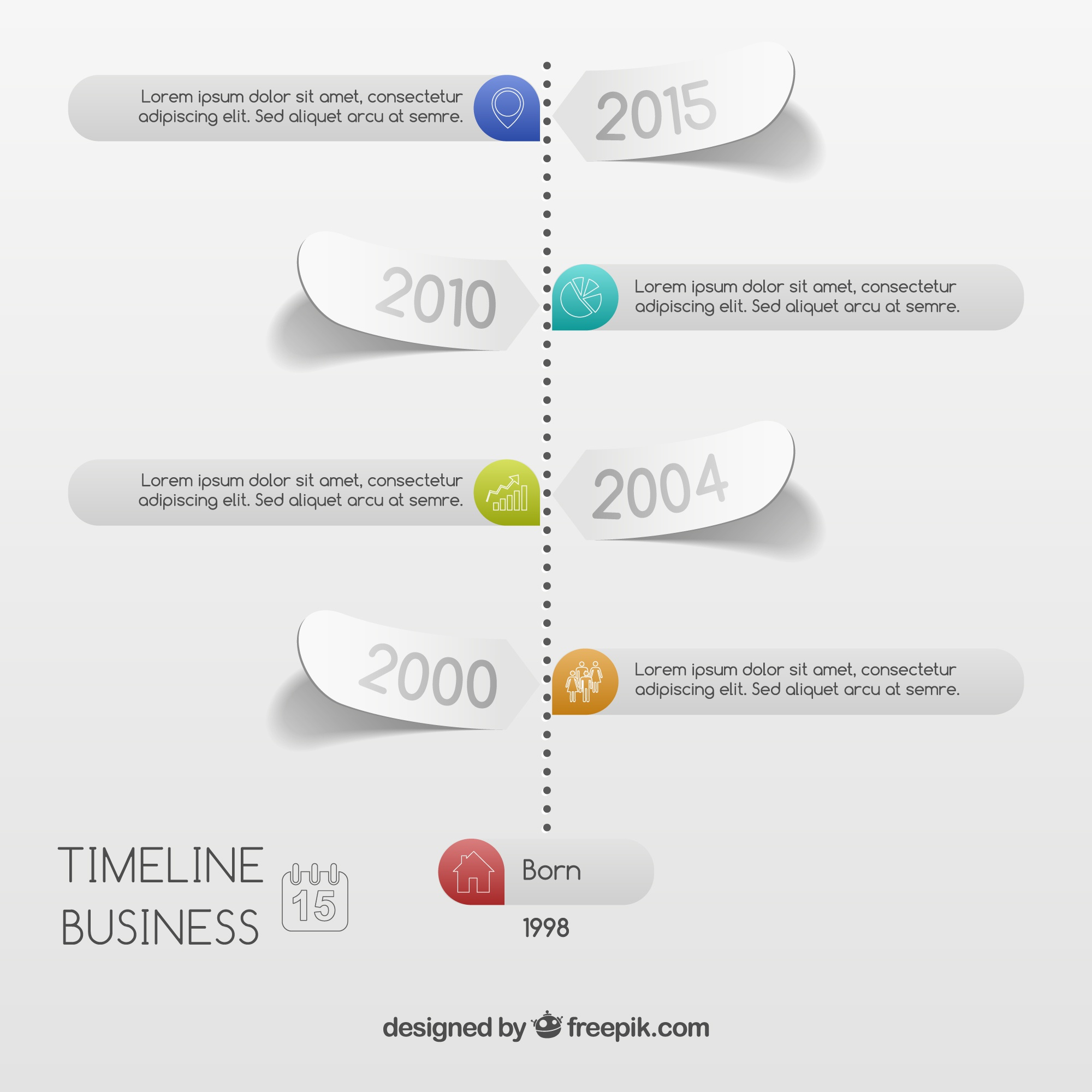 Business-Timeline Infografik