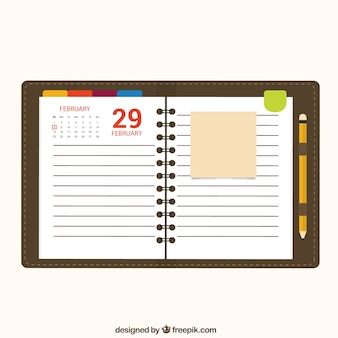 Kalender Notizbuch-Papier
