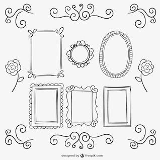Calligraphic Frames und Ornamente