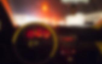 Auto-Innen unscharfen Hintergrund