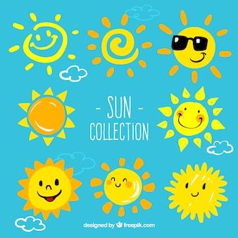 Cartoon Sonnen Sammlung