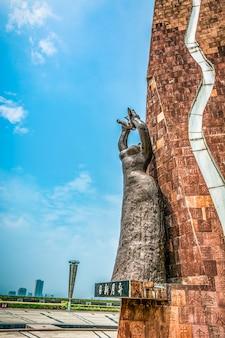 Chinesische buddhistische Pagode: Ruiguang Pagode in Suzhou, China.