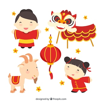 Chinesische Kultur Illustration