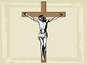Christentum religiös heilig jesus kreuz Vektor