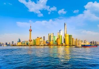 Cityscape downtown hintergrund stadt chinese berühmt