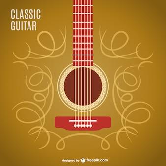 Klassische Gitarre Vektor-Design
