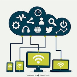 Cloud Computing-Konzept Infografik