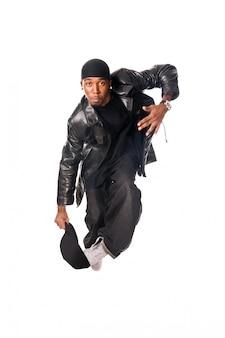 Cooler Hip-Hop junger Mann auf weiß