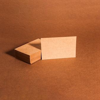 Dekorative leere Karton Visitenkarten